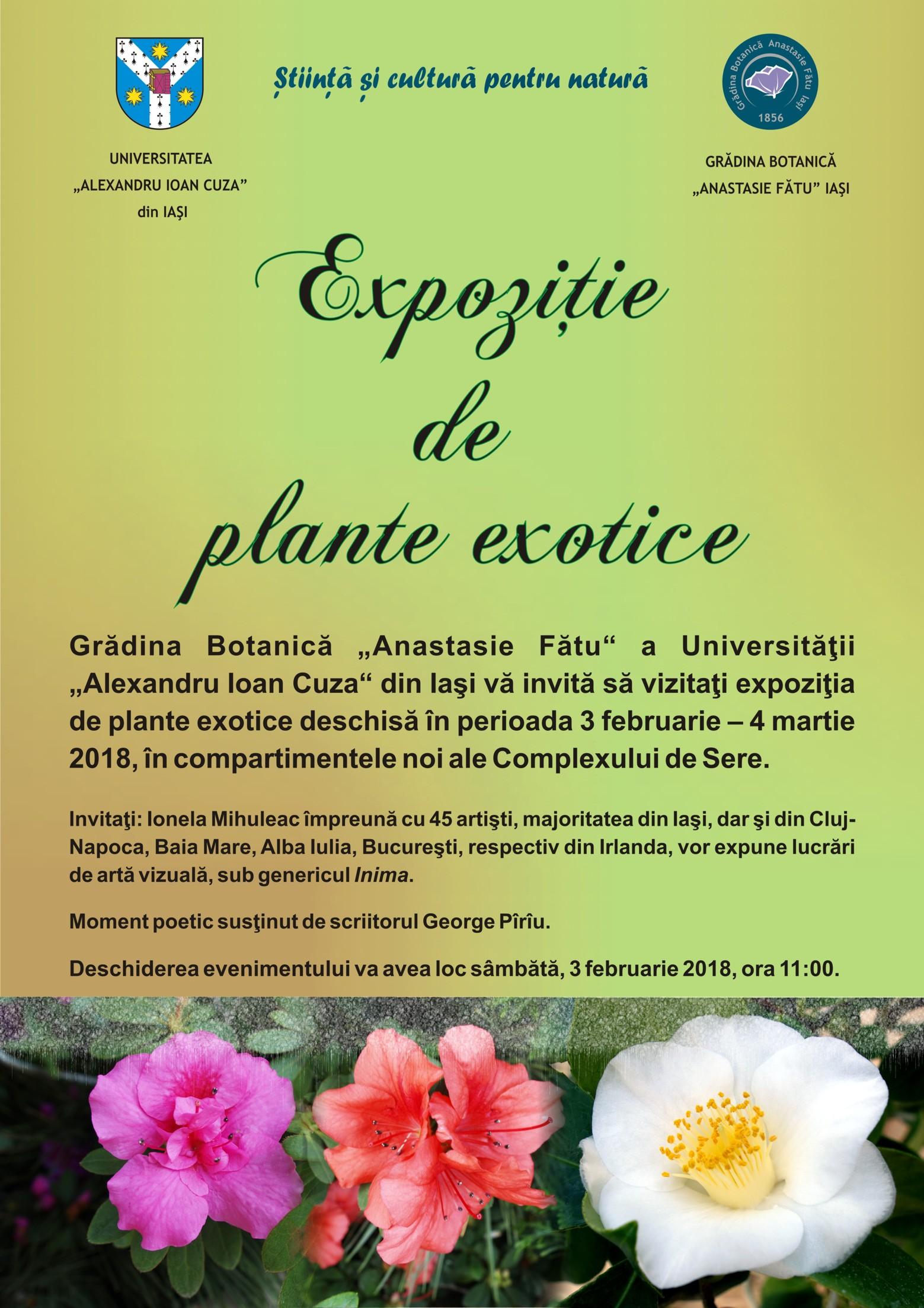 Botanic Garden of Iasi - Announcements